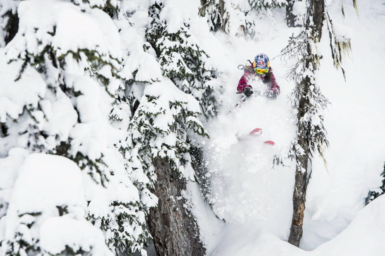 american-skier-michelle-parker-freeskiing-for-days-of-my-youth-movie-in-alaska