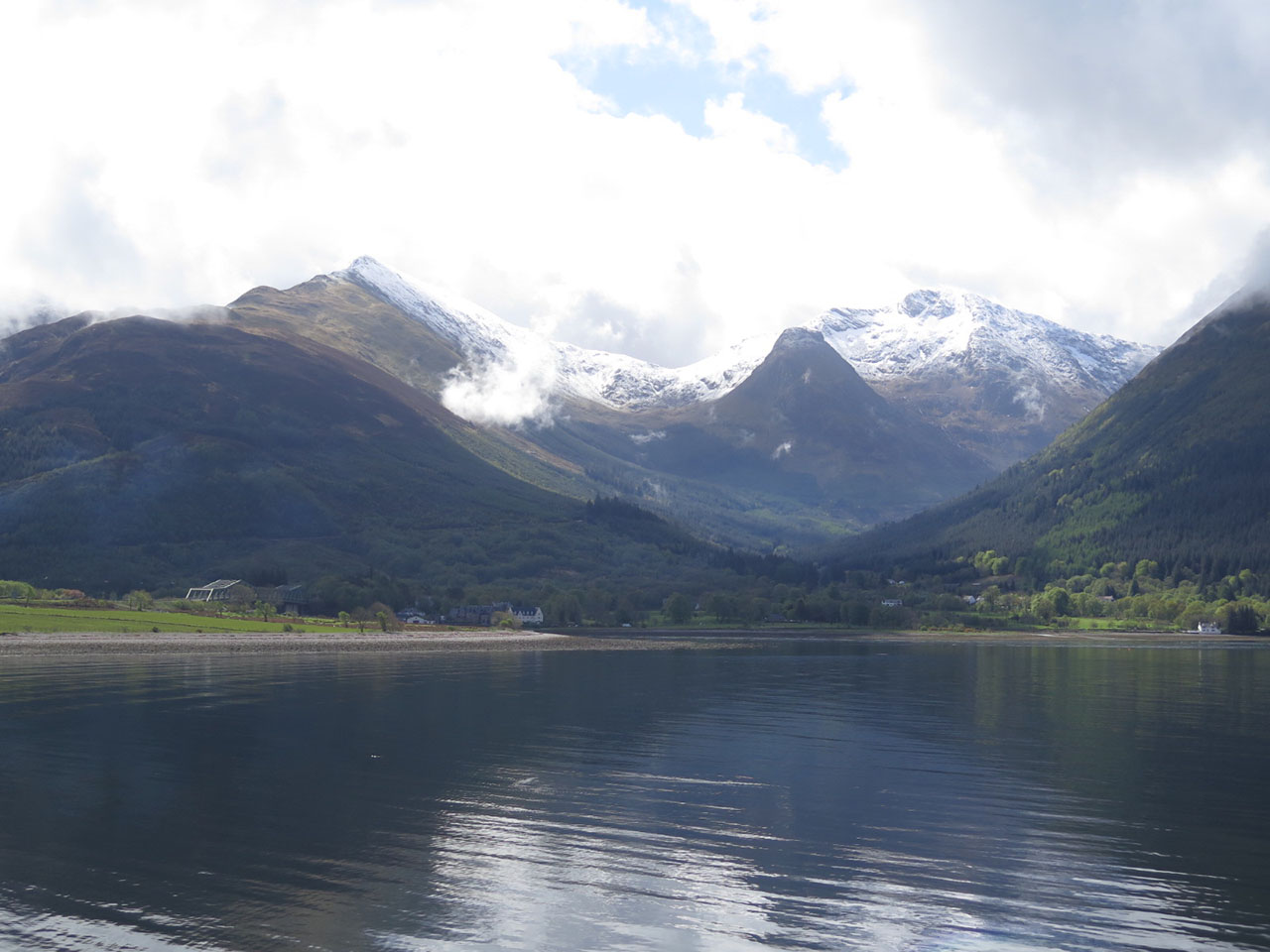 View across Loch Leven at Sgorr Donhuill and Sgorr Dearg