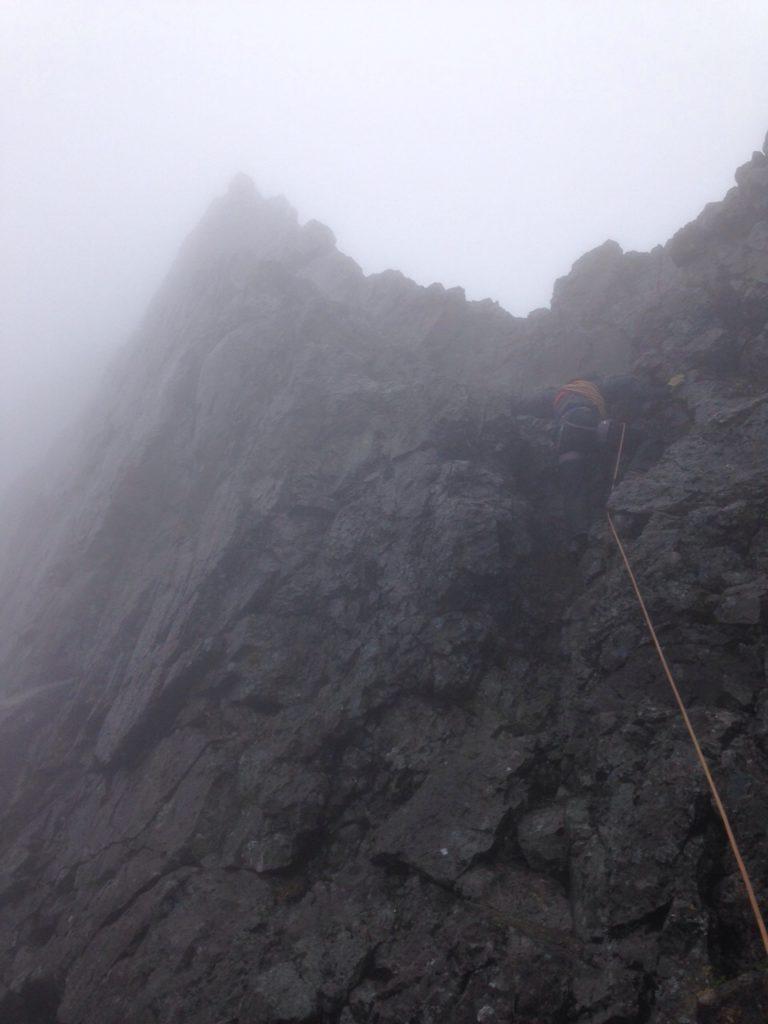 In Pinn ascent