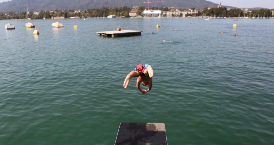 Utoquai Swimming Area, Lake Zürich