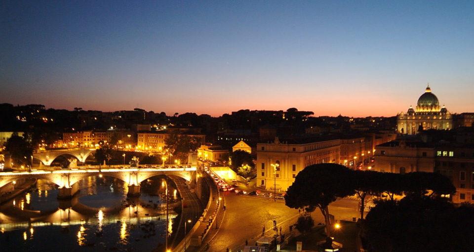 Panorama_veduta di S. Pietro da Castel S. Angelo_04 FQ